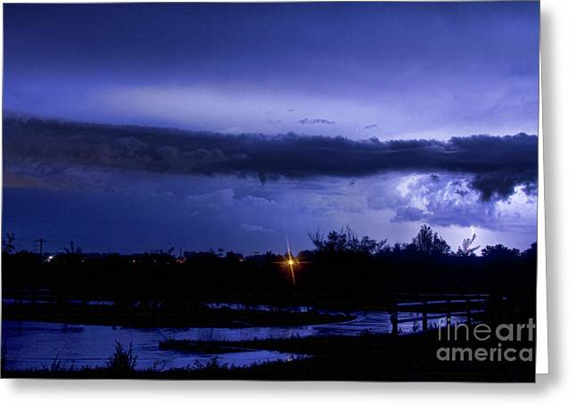The Lightning Man Greeting Cards - Lightning Thunderstorm July 12 2011 St Vrain Greeting Card by James BO  Insogna