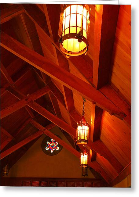 Bloomington Greeting Cards - Lights and Beams Greeting Card by Steven Ainsworth