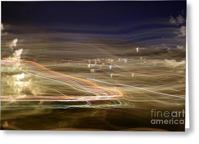 City Lights Greeting Cards - Lights From The Mountain Top Greeting Card by Julie Lueders
