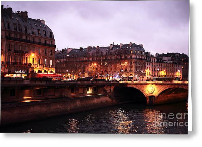 Paris In Lights Greeting Cards - Lights in Paris Greeting Card by John Rizzuto