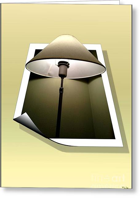 Out Of Frame Greeting Cards - Lights Out Greeting Card by Ron Bissett