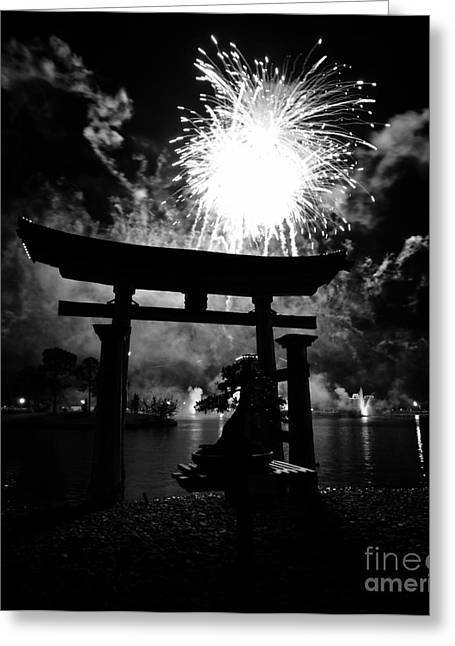 Torii Greeting Cards - Lights over Japan Greeting Card by David Lee Thompson