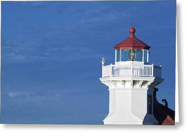 U.s. Coast Guard Greeting Cards - Lightstation Mukilteo Greeting Card by Patrick M Lynch