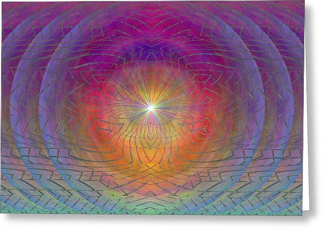 Surreal Geometric Greeting Cards - Lightwave Geometrics Greeting Card by Tim Allen