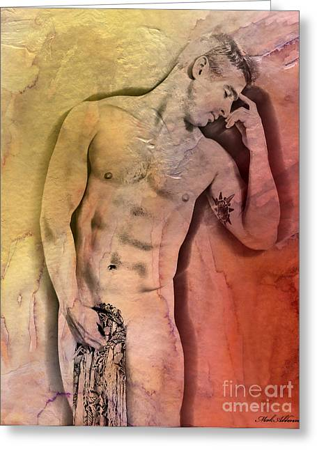 Artistic Nude Print Greeting Cards - Like A Natural Man Greeting Card by Mark Ashkenazi