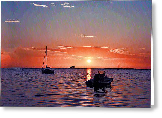 Dunedin Greeting Cards - Like a Painted Sky Greeting Card by Bill Cannon