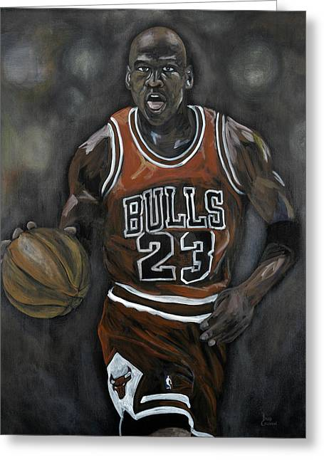 Michael Jordan Greeting Cards - Like Mike Greeting Card by Brad Coleman