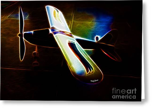 Flyers Art Greeting Cards - Lil Plane Greeting Card by Cheryl Young