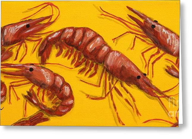 Shrimp Greeting Cards - Lil Shrimp Greeting Card by JoAnn Wheeler