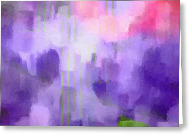 Meditative Greeting Cards - Lilac Light Greeting Card by Lutz Baar