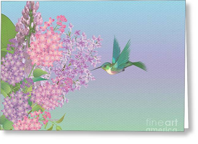 Lilac Greeting Cards - Lilacs Greeting Card by Cheryl Young