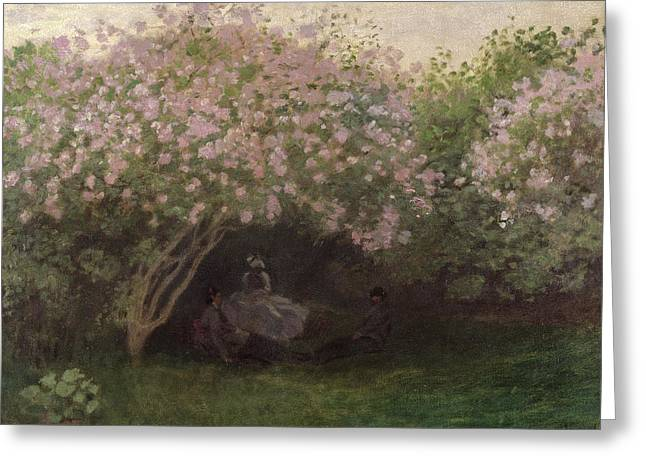 Summer Dresses Greeting Cards - Lilacs Greeting Card by Claude Monet