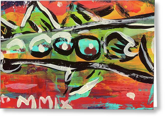 Graffiti Greeting Cards - LilFunky Folk Fish number nineteen Greeting Card by Robert Wolverton Jr