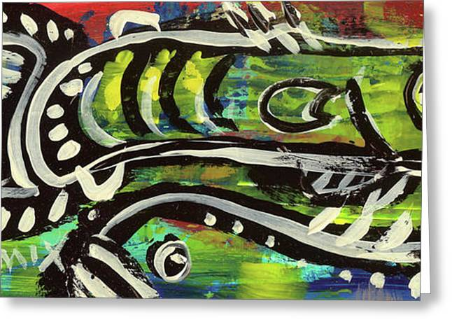 Bedroom Art Greeting Cards - LilFunky Folk Fish number sixteen Greeting Card by Robert Wolverton Jr