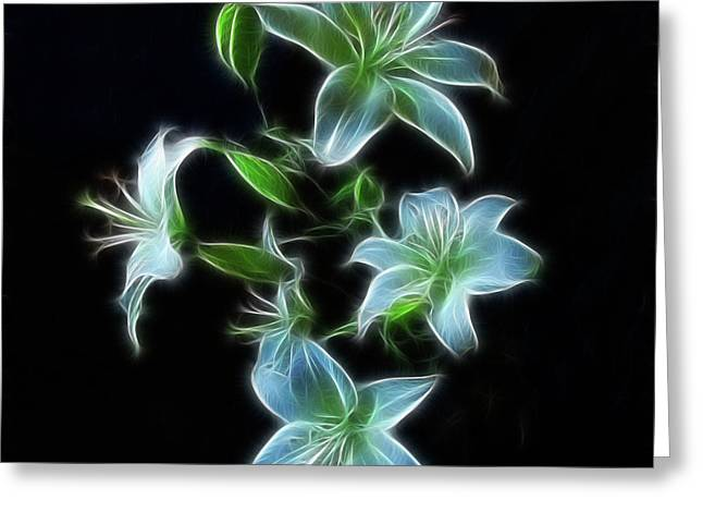 Indiana Flowers Greeting Cards - Lilies Greeting Card by Sandy Keeton