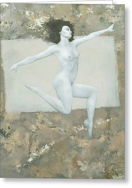 Fine Mixed Media Greeting Cards - Lilith Greeting Card by Steve Mitchell