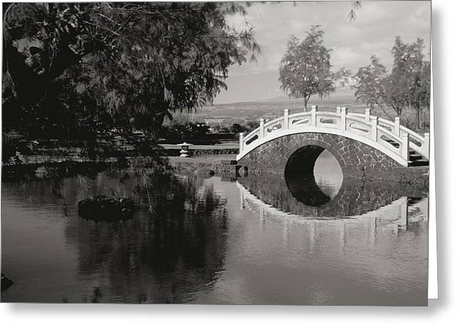 Culture Influenced Art Greeting Cards - Liliuokalani Gardens Greeting Card by Peter French - Printscapes