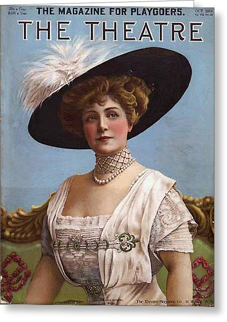 Lillian Russell On Cover Greeting Card by Steve K
