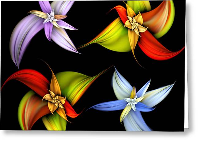 Lilly Montage Greeting Card by Pam Blackstone