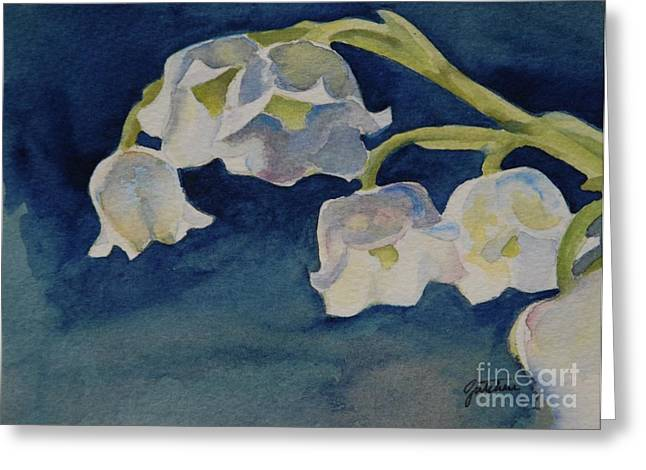 Spring Bulbs Greeting Cards - Lilly of the Valley Greeting Card by Gretchen Bjornson