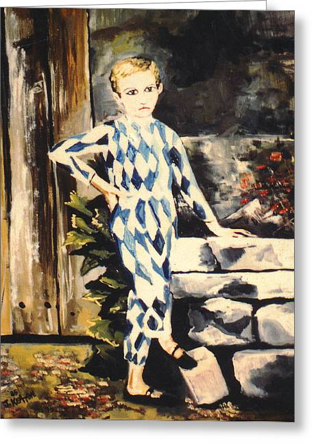 Pierrot Greeting Cards - Lily Pierrot Greeting Card by John Keaton