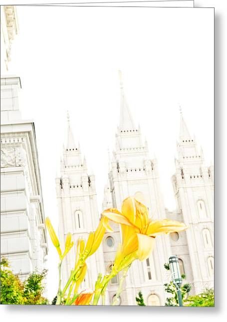 Lily Temple Funky Greeting Card by La Rae  Roberts