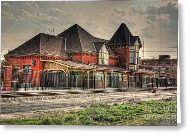 Hdr Photo Greeting Cards - Lima Ohio Train Station Greeting Card by Pamela Baker