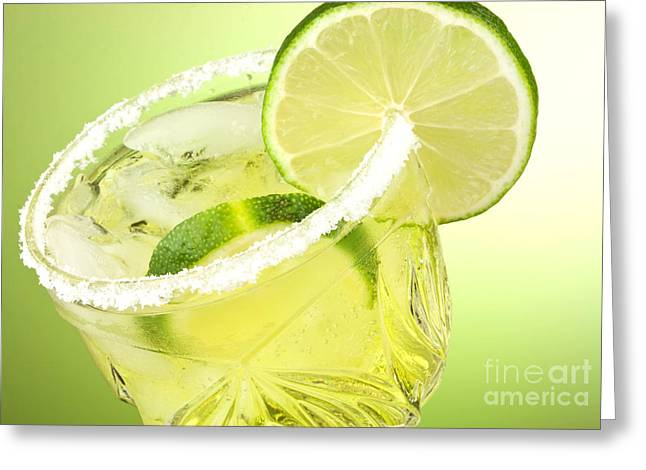 Cheers Photographs Greeting Cards - Lime cocktail drink Greeting Card by Blink Images