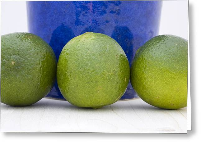 Health Food Greeting Cards - Lime Greeting Card by Frank Tschakert