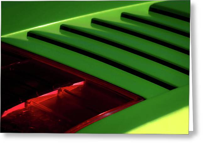 Supercar Greeting Cards - Lime Light Greeting Card by Douglas Pittman