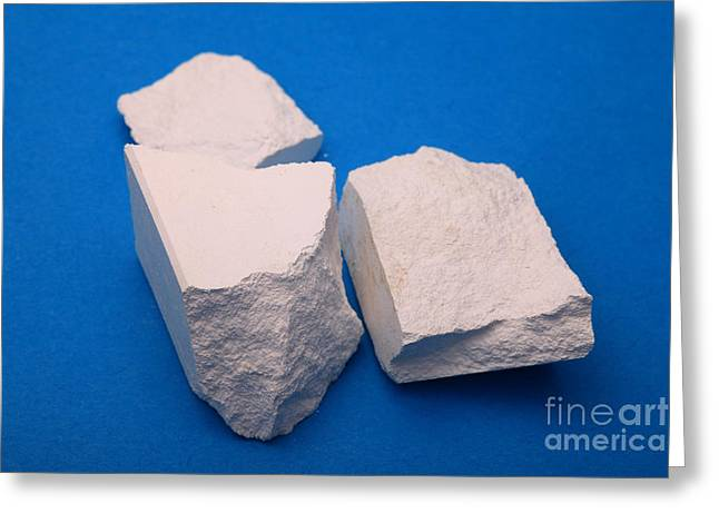 Calcium Oxide Greeting Cards - Lime Made From Marble Greeting Card by Ted Kinsman