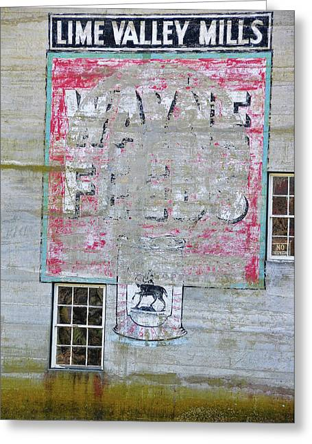 Old Feed Mills Photographs Greeting Cards - Lime Valley Mills Greeting Card by David Arment