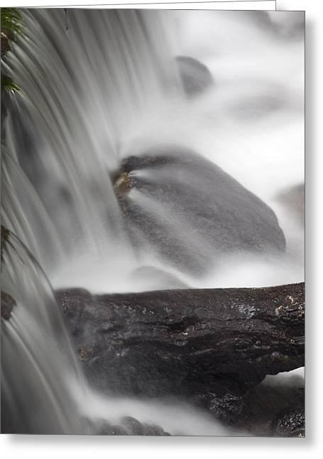 Big Sur California Greeting Cards - Limekiln Creek Flowing Over Rocks Greeting Card by Rich Reid