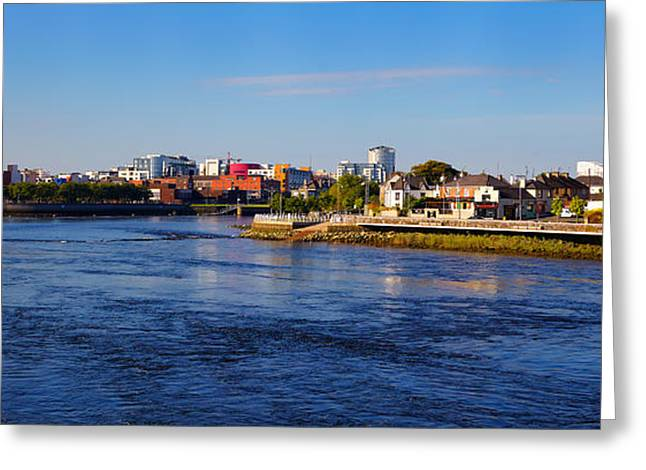 Limerick Greeting Cards - Limerick city and Shannon river Greeting Card by Gabriela Insuratelu