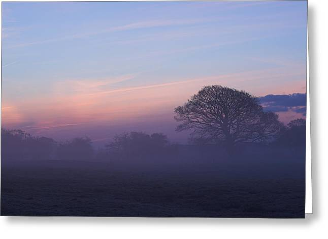 Limerick Greeting Cards - Limerick foggy sunrise Ireland Greeting Card by Pierre Leclerc Photography