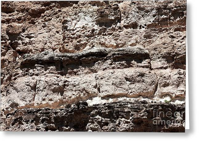 Sinagua Greeting Cards - Limestone Details Greeting Card by John Rizzuto