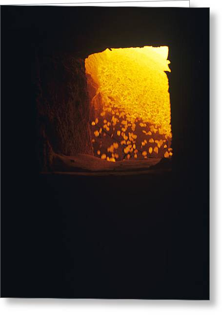 Calcined Greeting Cards - Limestone Kiln Fire Zone Greeting Card by Dirk Wiersma