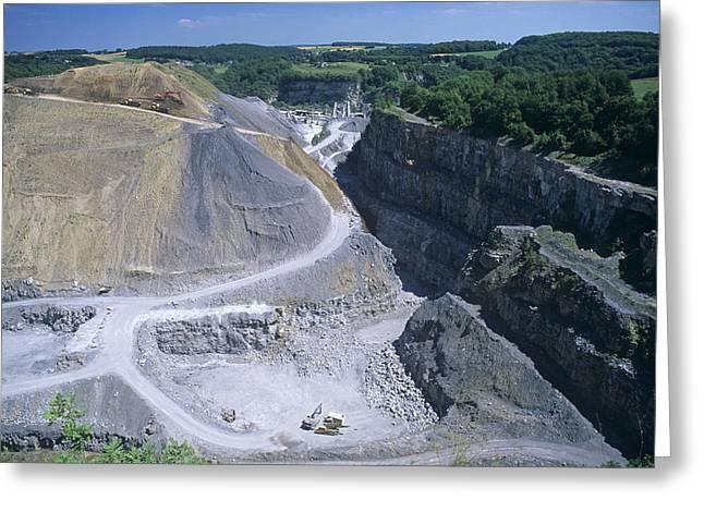 Limestone Quarry Greeting Card by Dirk Wiersma