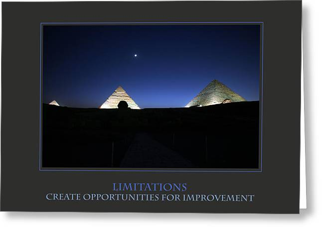 Affirmation Greeting Cards - Limitations Create Opportunities For Improvement Greeting Card by Donna Corless