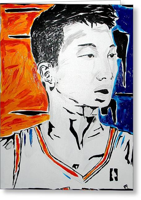 Knicks Greeting Cards - Lin  Greeting Card by Patrick Ficklin