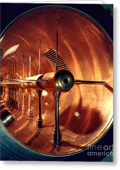 Particle Accelerator Greeting Cards - Linacs Proton Drift Tube Greeting Card by Science Source