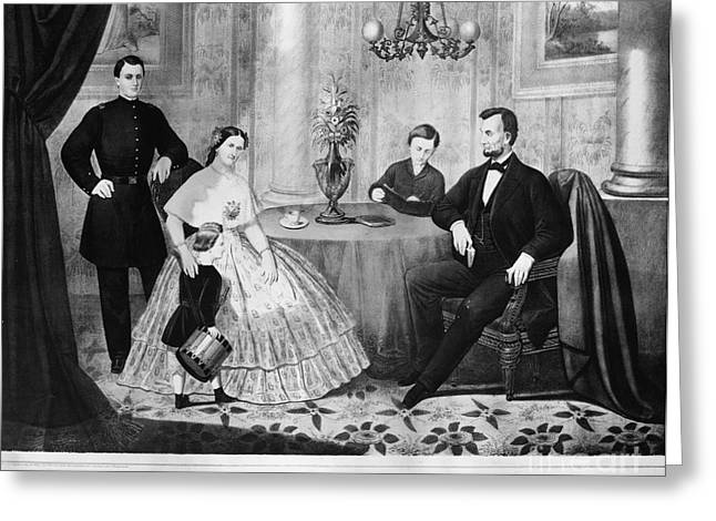 Mary Todd Lincoln Greeting Cards - Lincoln & Family Greeting Card by Granger