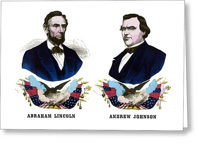 Honest Greeting Cards - Lincoln and Johnson Greeting Card by War Is Hell Store