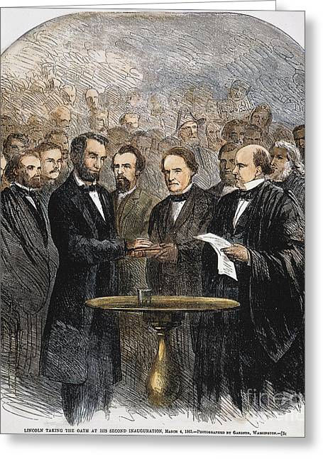 Inauguration Photographs Greeting Cards - Lincoln Inauguration, 1865 Greeting Card by Granger