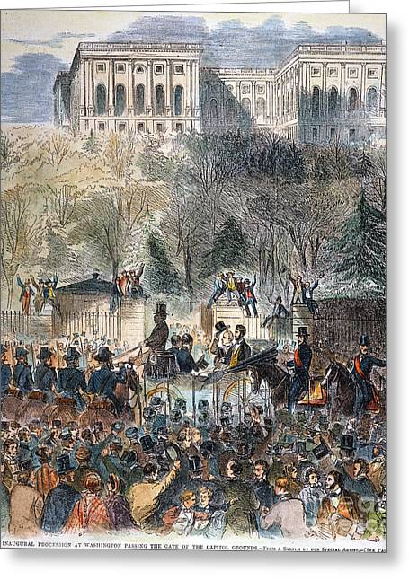 Inauguration Greeting Cards - Lincoln Inauguration Greeting Card by Granger