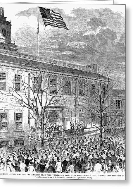 Lincoln: Independence Hall Greeting Card by Granger