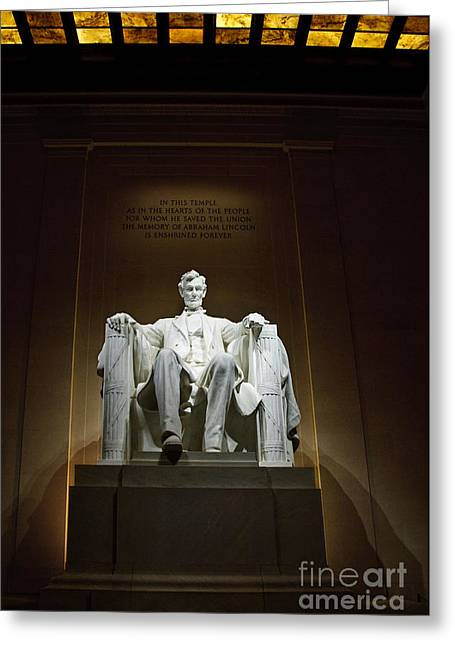 Lincoln Greeting Card by Jim Chamberlain