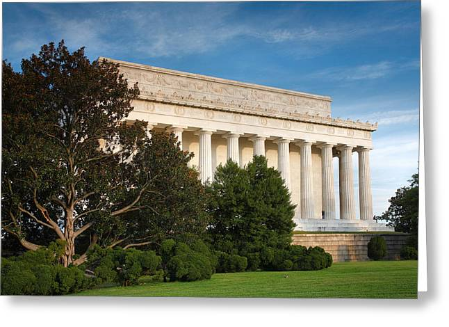 Historical Acrylic Prints Greeting Cards - Lincoln Memorial and Tree I  Greeting Card by Steven Ainsworth