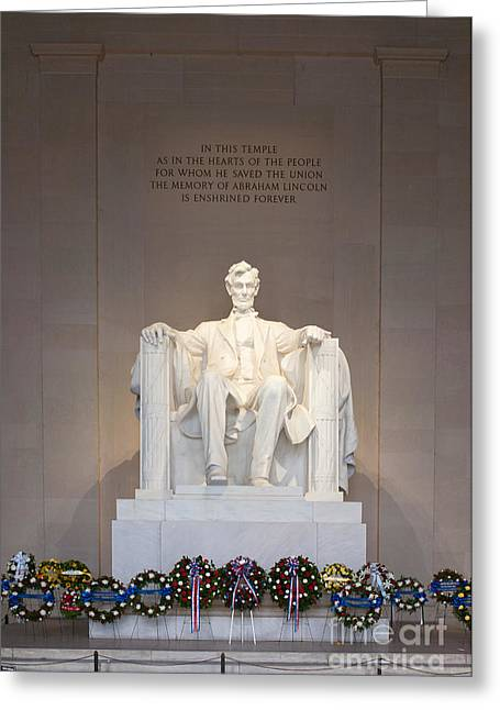 President Of America Greeting Cards - Lincoln Memorial I Greeting Card by Clarence Holmes