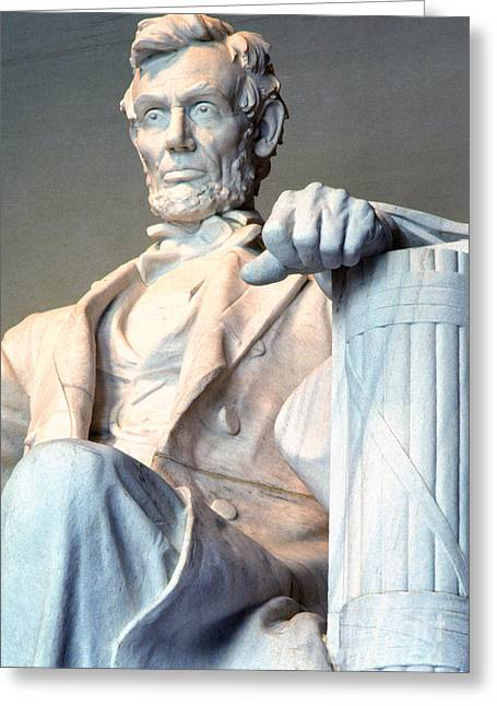 Stature Greeting Cards - Lincoln Memorial Greeting Card by Thomas R Fletcher